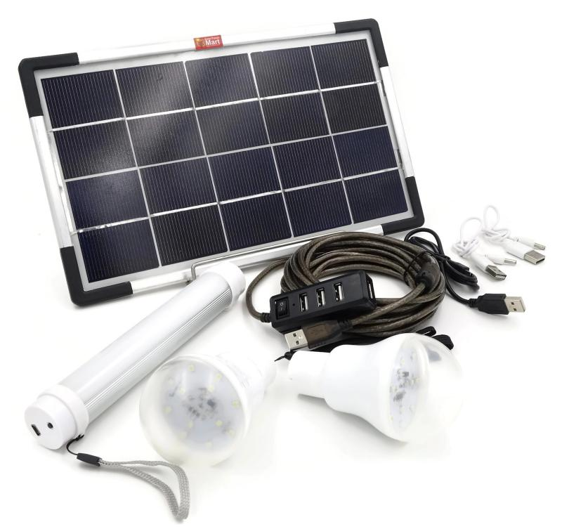 6W Solar Panel DIY Lighting Kit