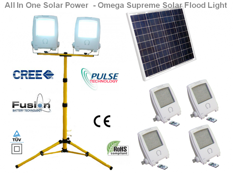 Omega Supreme Solar Flood Light All In One - Technical