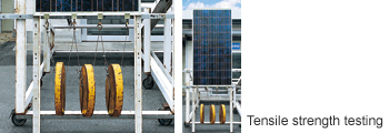 Solar panel with load